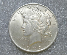 US silver peace dollar coin year 1922 XF
