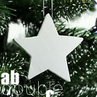 10pcs Chic Wooden stars White Christmas Tree Decorations