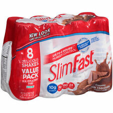 SlimFast Creamy Milk Chocolate Meal Replacement Shakes, 11 fl oz, 8 count