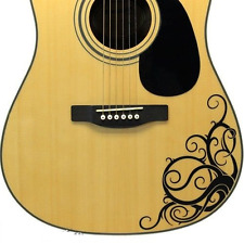 Guitar - vine Decal sticker