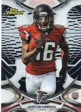 2015 TOPPS FINEST FOOTBALL JUSTIN HARDY ROOKIE BLACK REFRACTOR