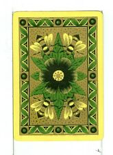 "Single Vintage Old Wide Playing Card, Reversible ""Bumble Bee"" Yellow"
