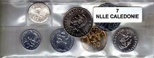 Nouvelle Calédonie série de 7 pièces de monnaie