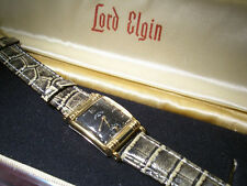 Tolle alte Vintage art deco Lord Elgin Herrenarmbanduhr - incl. Box