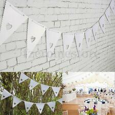 16 Flag Love Heart Vintage Banner Pennant Bunting For Wedding Parties Decor 8M