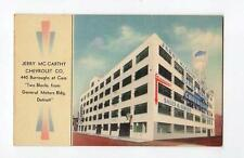 JERRY MC CARTHY CHEVROLET CO. GENERAL MOTOR'S BUILDING DETROIT MICHIGAN  738