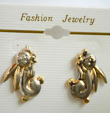 Bunny Rabbit Post Earrings / Gold & Silver-tone finish / Spring / Easter