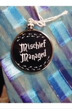 Harry Potter Saying doublesided Silver Ornament Mischief Managed Black 1B