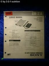 Sony Service Manual RM X1A CD Auto Charger Commander (#1094)