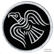 ODIN RAVEN PATCH iron-on VIKING EMBLEM embroidered NORSE MYTHOLOGY NORWAY BLACK