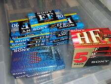 17 New & Sealed Sony Cassette Tapes - EF Super / Hi Fi / HF 90 - All Type 1 [A]
