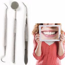 Edelstahl Dental Instrument Pinzette Sonde Mundspiegel Zähne sauber Hygiene Tool