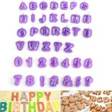 40x Alphabet Letter Cookie Cutters Mold Number Fondant Cake Biscuit Baking Mould