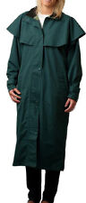 Womens Ladies Long Full Length Waterproof Riding Cape Rain Coat - B33