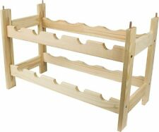 Wine Rack for 10 bottles Wooden Free P&P