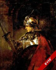 MAN IN SHINING ARMOR REMBRANDT PORTRAIT PAINTING DUTCH MASTER ART CANVAS PRINT
