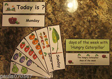 Hungry caterpillar days of the week flash cards ONLY £3.49 pack!