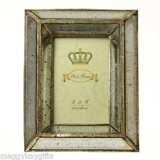 Vintage Style 4x6 Mirror Photo Frame - Shabby Chic - Luxury