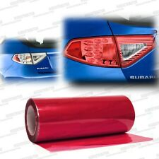"Red Tint Fog Lights Tail Lights Lamp Sidemarker Vinyl Film Wrap F - 12"" x 48"""