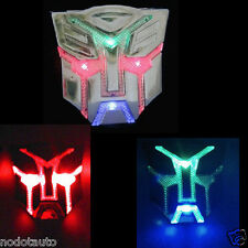 Car Motorcycle Emblem Transformers Autobots LED Solar Flash strobe Light