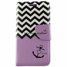 For Alcatel One Touch Fierce 2 7040T Wallet Case Cover Credit Folio Pouch Plum