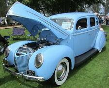 Old Photo.  1939 Lite Blue Mercury Automobile