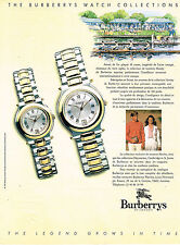 PUBLICITE ADVERTISING 025  1991   BURBERRYS  collection montres