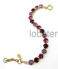 CATHERINE POPESCO GOLD BRACELET multicolor Swarovski Crystal lavender ruby red