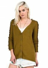 2016 NWT WOMENS VOLCOM HAZY DAY CARDIGAN $60 S army relaxed fit button up front