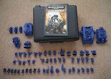 Warhammer 40k Space Marines Ultramarine army with Storage Case