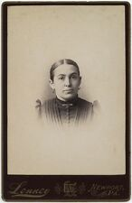 LADY IN BEAUTIFUL DRESS AND EARRINGS BY LENNEY, NEWPORT, PA, CABINET CARD