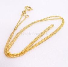 """Unisex New 18K Gold Plated Simple DD 45cm  17.5"""" Small Classic Chain Necklace"""