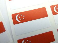 Mini Sticker Pack, Self-Adhesive Singapore Flag Labels, FR228