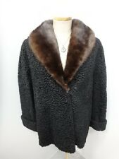28711 Black Persian Lamb Real Fur Women's Coat Jacket  Large