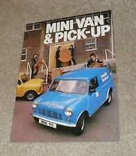 Austin Leyland Mini Van Y Mini Pick Up FOLLETO 1978