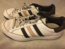 Adidas Nastase Women's Size 8.5 White/brown/pink Pre-owned