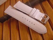 24MM GENUINE SOFT CALF LEATHER WATCH STRAP WHITE NEW!