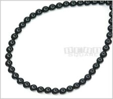 "15.5"" Black Onyx Agate Round Beads 6mm #12026"