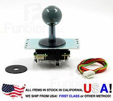 Sanwa Original Japan Arcade Joystick JLF-TP-8YT-SK Translucent Clear GRAY Ball
