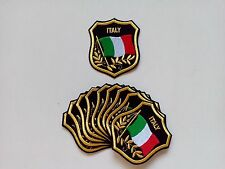 """10 ITALY Flag in shield Embroidered Patches 3.25""""x2.75"""""""
