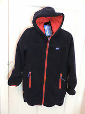 Womens Penfield Burbank Long Classic Pile Fleece Jacket Dark Blue Size Small
