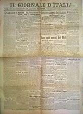 IL GIORNALE D'ITALIA 16 OTTOBRE 1918 -  DURAZZO OCCUPATA DAGLI ITALIANI - N. 827