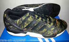 ADIDAS ORIGINALS ZX FLUE BLACK CARBON/ ARMY DEEP FOREST CAMO CAMOUFLAGE MEN 12
