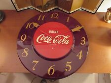 RESTORED COCA COLA CLOCK1950QUIET ACCURATE TELECHRON SECOND HAND WORKS GE EXCELL