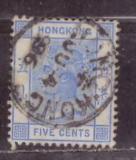 1882 British colony in China stamps, Hong Kong QV 5c used, CCA SG35a