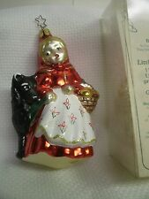 "Birgit's Christmas Collection ""Little Red Riding Hood /wolf"" Christmas Ornament"