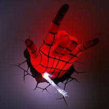 MARVEL 3D FX DECO LIGHT ULTIMATE SPIDER MAN SPIDEY HAND LED WALL NIGHTLIGHT