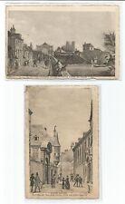 eaux fortes REIMS 2 cartes postales anciennes CPA /cp651