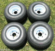 NEW Set Of 4 Tires and 5 LUG Wheels For Golf Cart Carts Taylor Dunn EzGo Cushman
