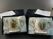 ROYAL CROWN DERBY WINTER AND SUMMER SOLSTICE LOVING CUPS limited edition nos.116